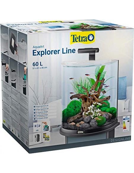 ACUARIO TETRA AQUAART EXPLORER LINE 60L BLANCO