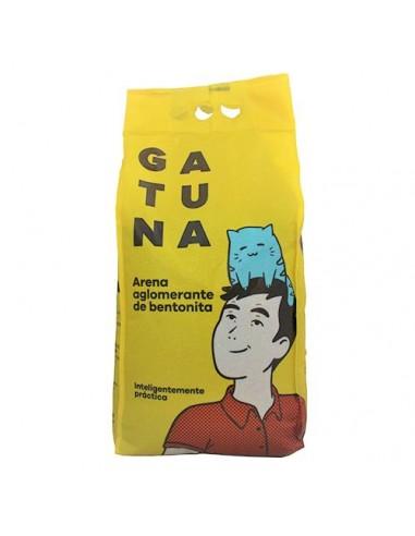 ARENA AGLOMERANTE GATO BENTONITA GATUNA BOLSA 6,35KG.