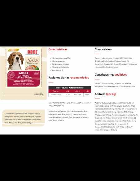 PICART SELECT DOG LATA 400GR