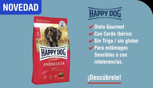 novedad happy dog andalucia con cerdo iberico